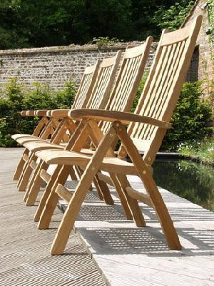 27329 Teak Outdoor Dorset Chair From Indonesia Reclining Five