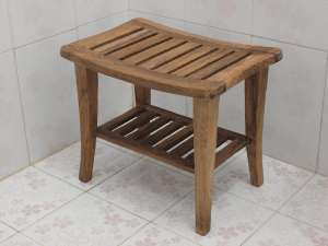 Bagoes Teak Shower Bench Abused