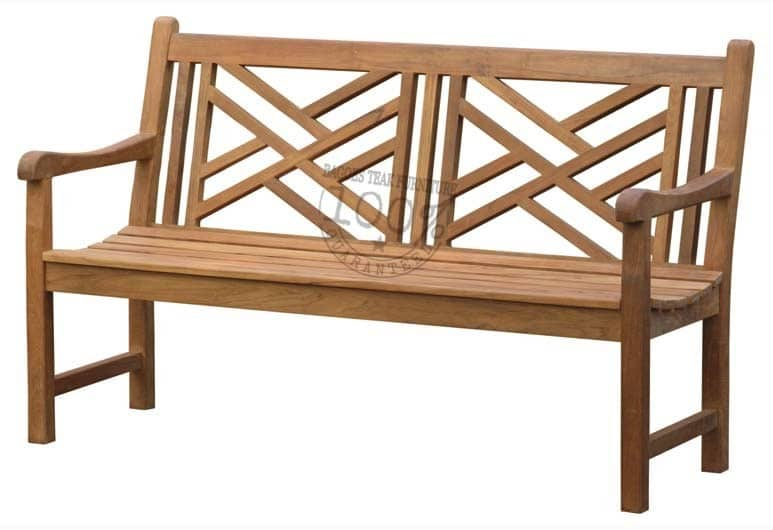BB-011-CROSS-TEAK-BENCH-150CM
