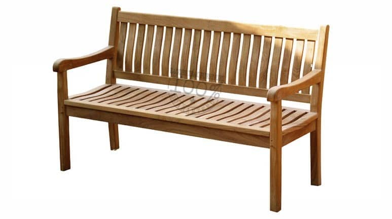 BB-040-WAVE-TEAK-BENCH-150CM