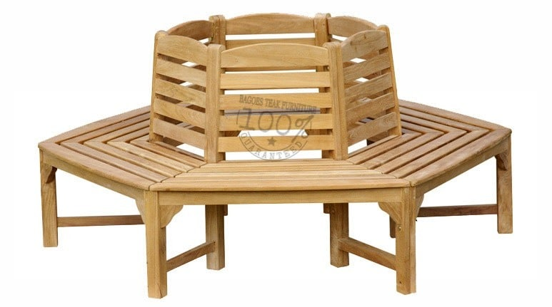 BB-072-OCTAGONAL-TREE-TEAK-BENCH
