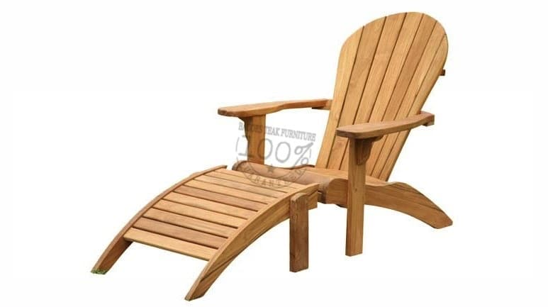 BC-041-NEW-ADIRONDACK-TEAK-CHAIR-W-FOOTSTOOL
