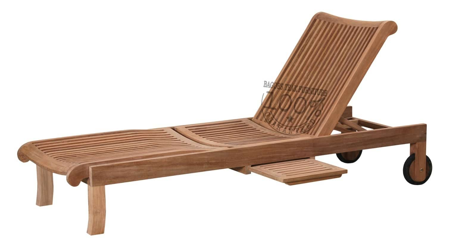 Outdoor Teak Sun Lounger