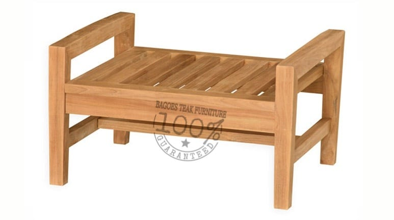 bv 002 marbella teak foot stool 71x40x60cm - Garden Furniture Teak